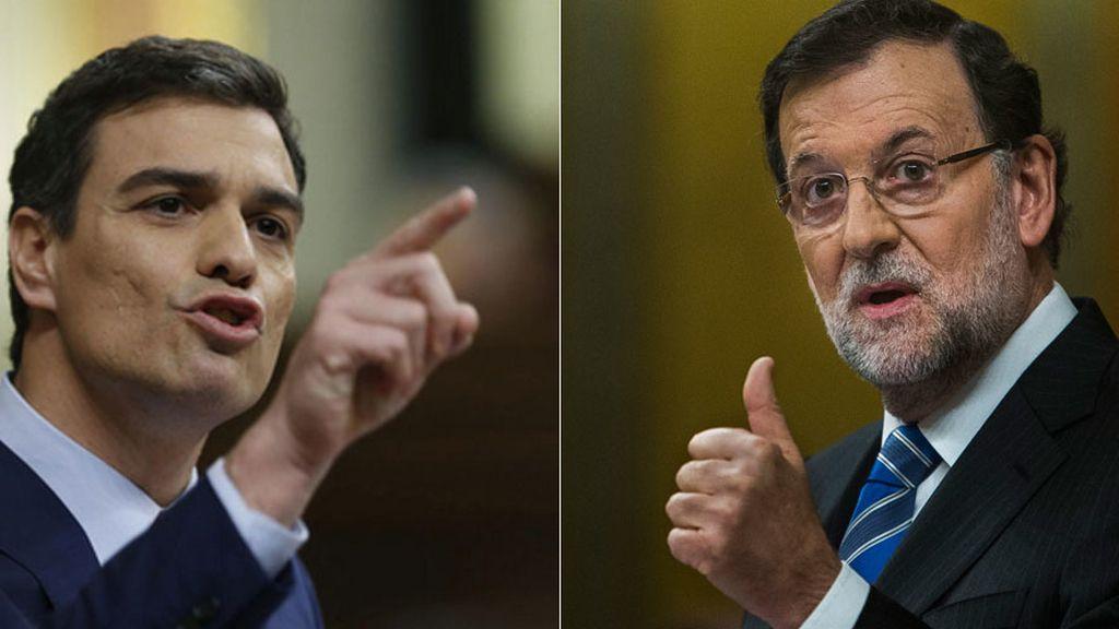Pedro Sánchez y Mariano Rajoy durante el Debate sobre el Estado de la Nación