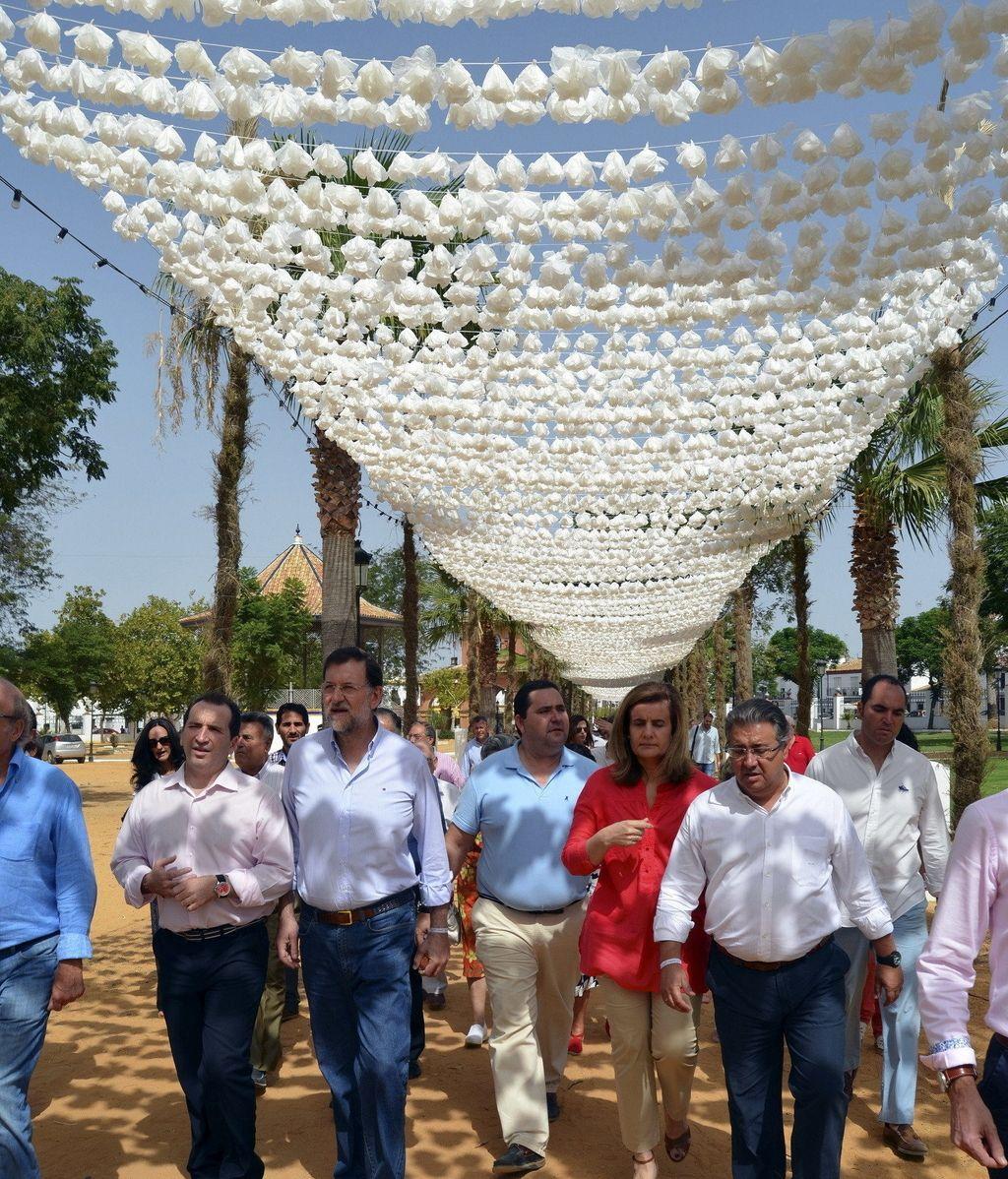 Mariano Rajoy, en Almonte