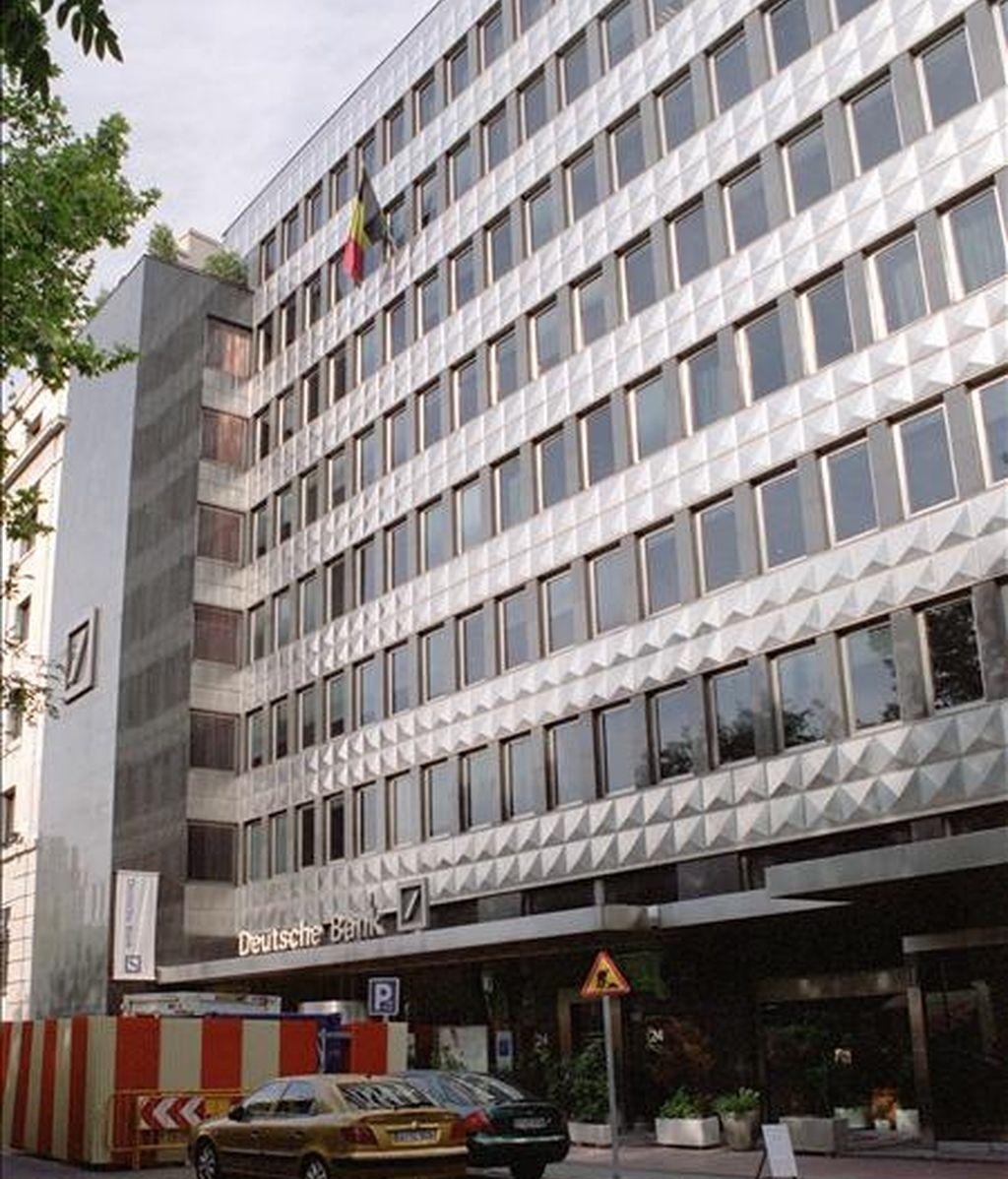Sede de la entidad Deutsche Bank en Madrid. EFE/Archivo