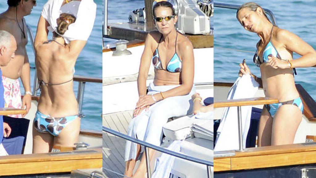 La Infanta Elena nos enseña su bonito bikini
