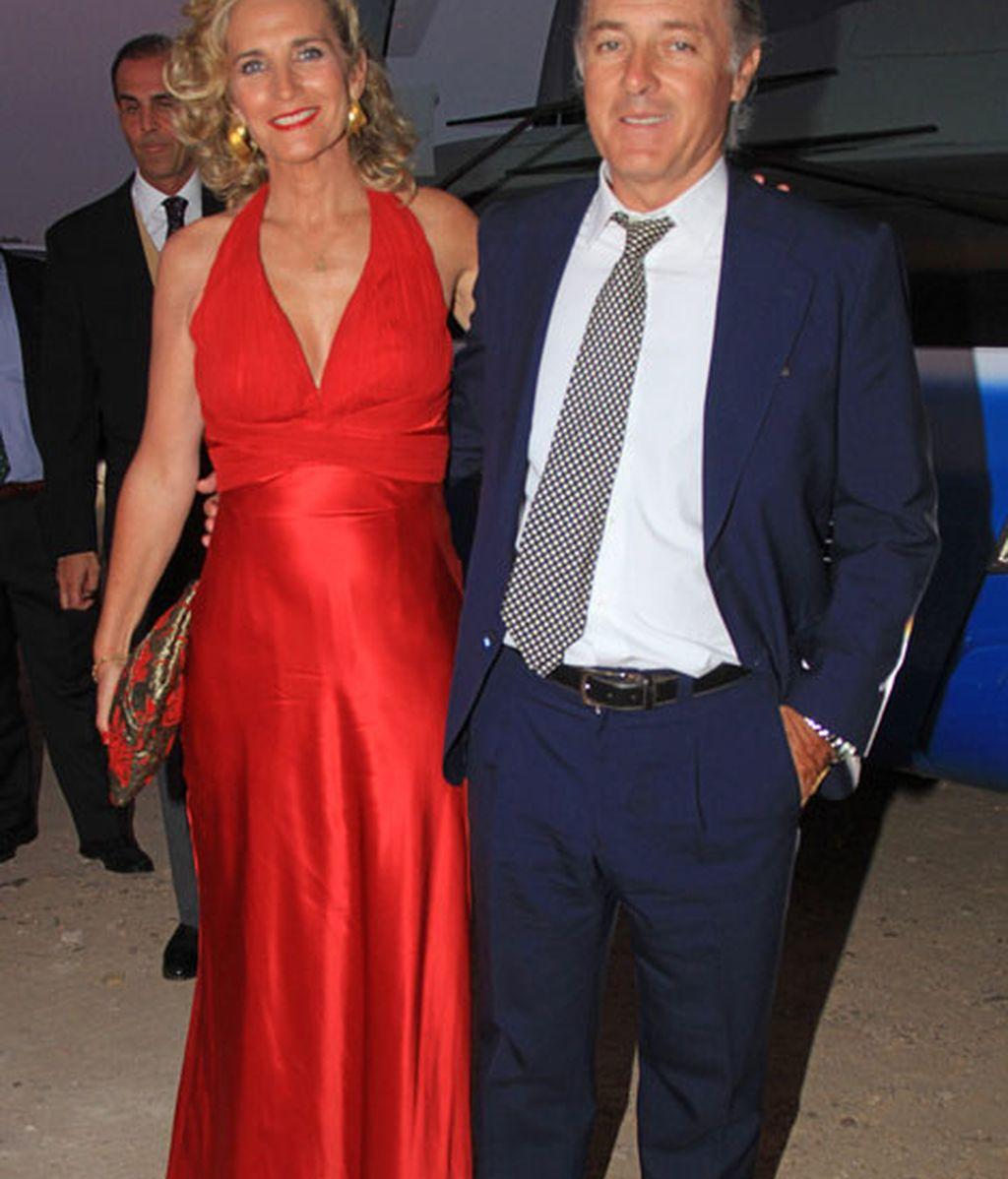 José Manuel Soto acudió acompañado por su mujer, Pilar Parejo