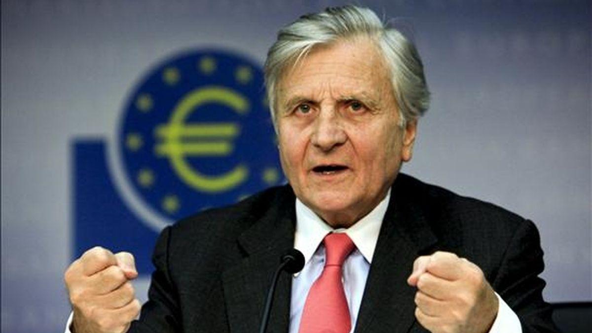 Jean-Claude Trichet, presidente del Banco Central Europeo (BCE). EFE/Archivo