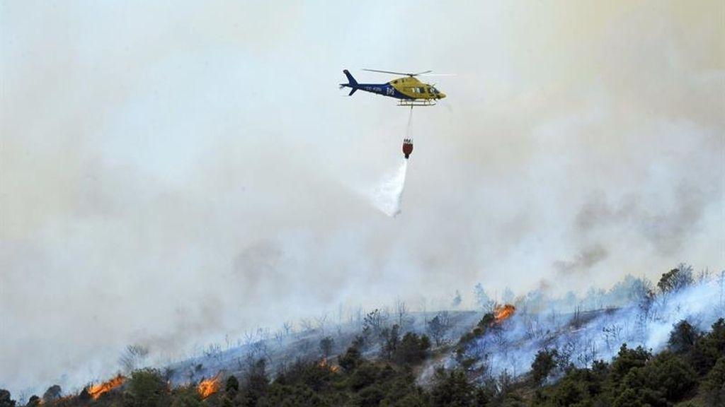 Se reaviva un foco del incendio en Cogolludo