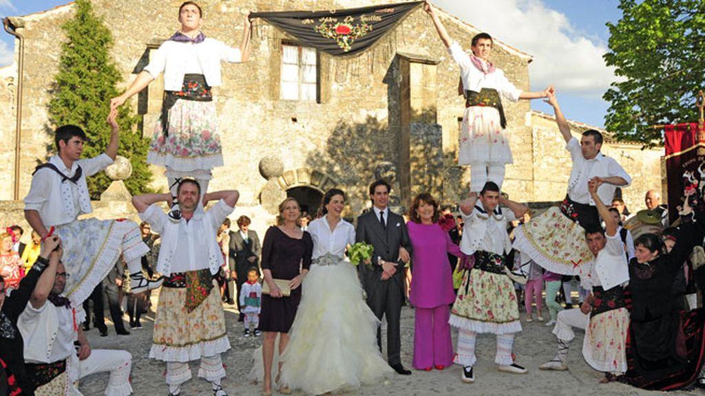 Pedraza se volcó en la boda de Gonzalo Machado y Mafalda Muñoz