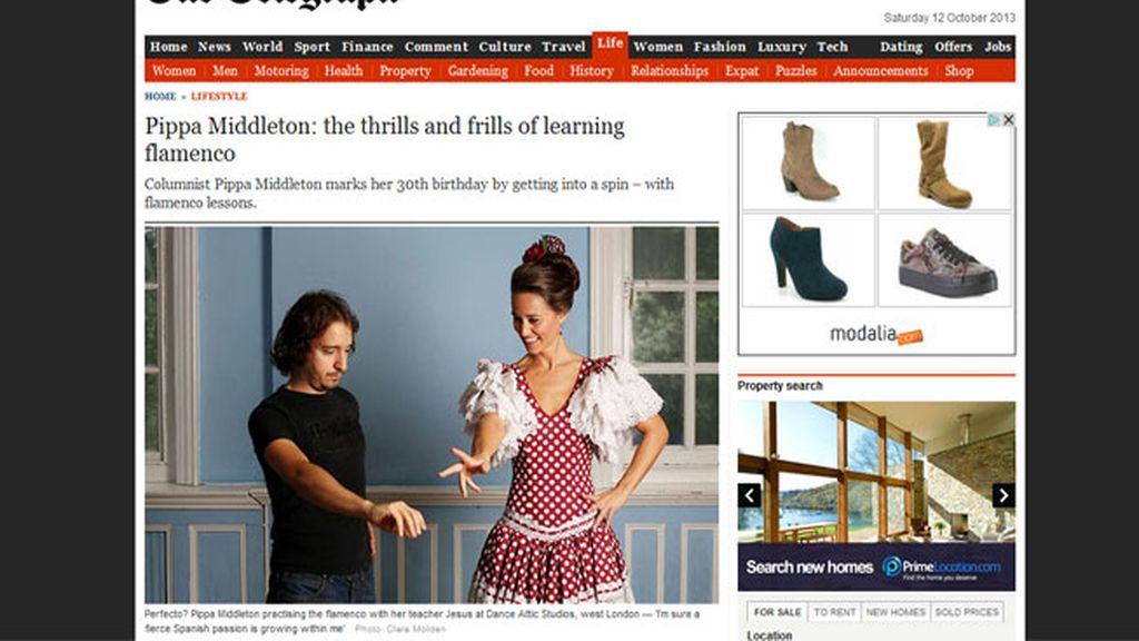Pippa Middleton aprende flamenco