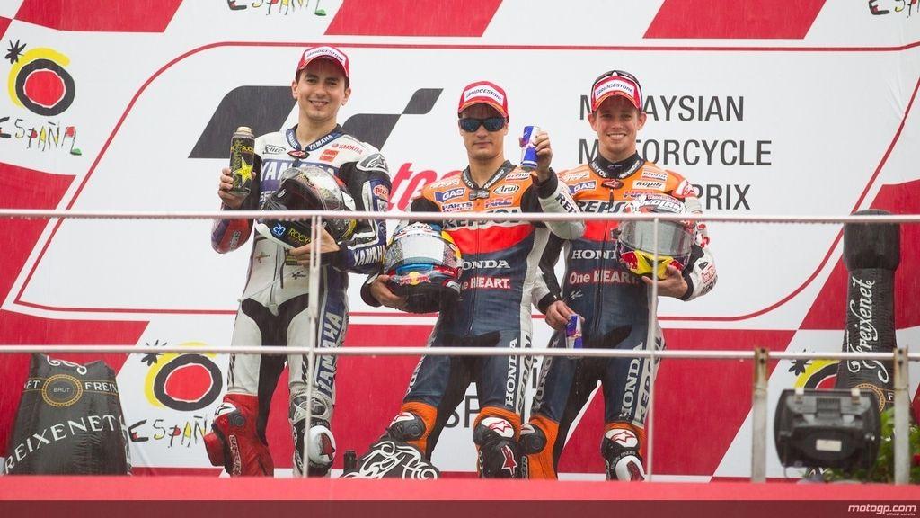 Pedrosa gana el Gran Premio 'interruptus' de Malasia
