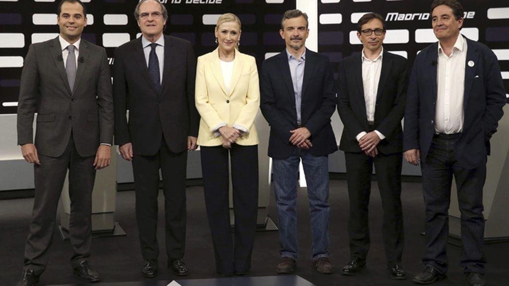 Debate 'a seis' en Telemadrid