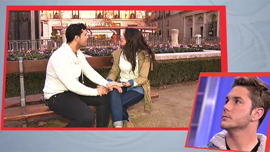 Samira se despide de Javier con un beso