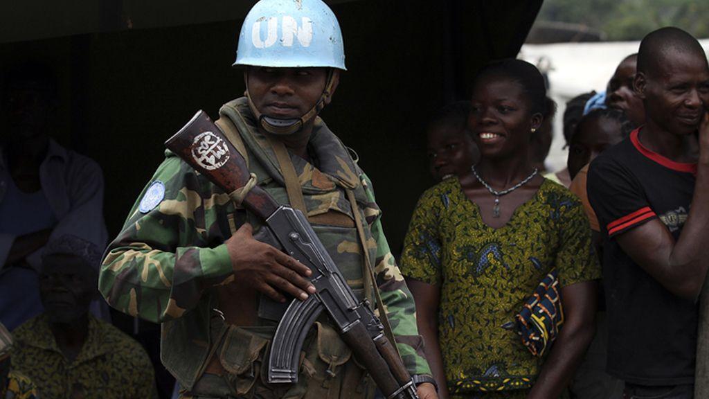 Actuación de los cascos azules de la ONU en el conflicto de Liberia