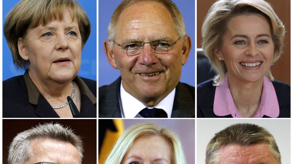 Los ministros de la CDU en el Gobierno alemán