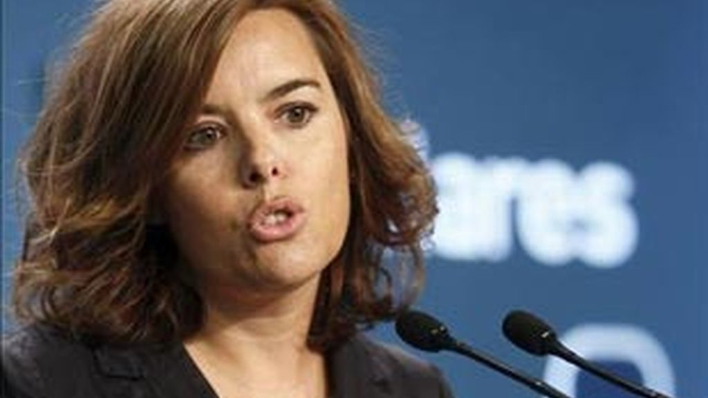 Soraya Sáenz de Santamaría, portavoz popular en el Congreso.