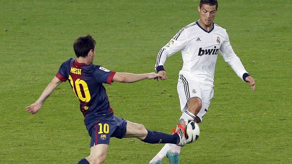 Cristiano Ronaldo y Messi. Foto: EFE
