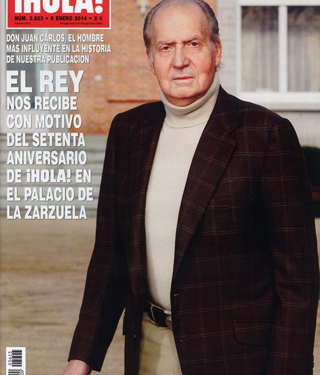 El rey don Juan Carlos, portada de Hola