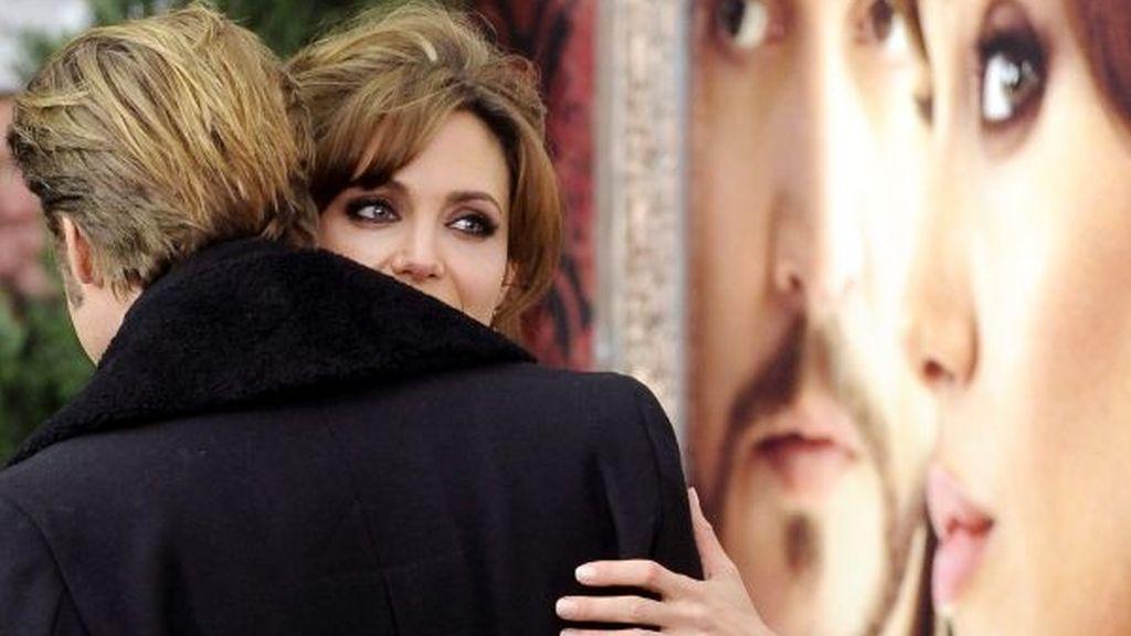 Jolie y Pitt, muy acaramelados