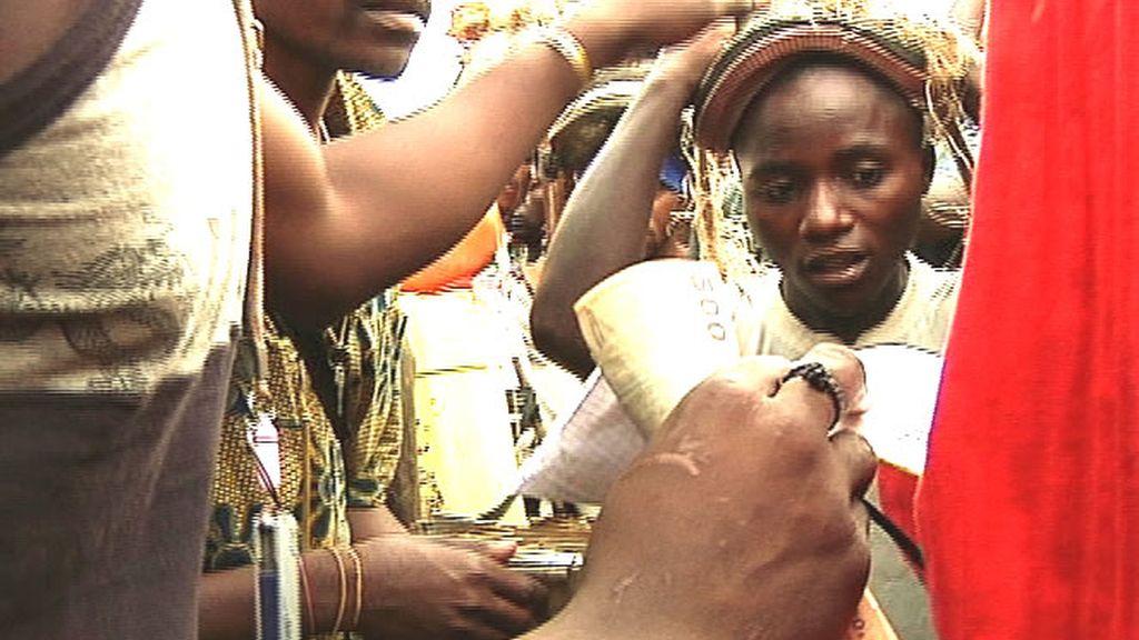 En un mercado en Congo