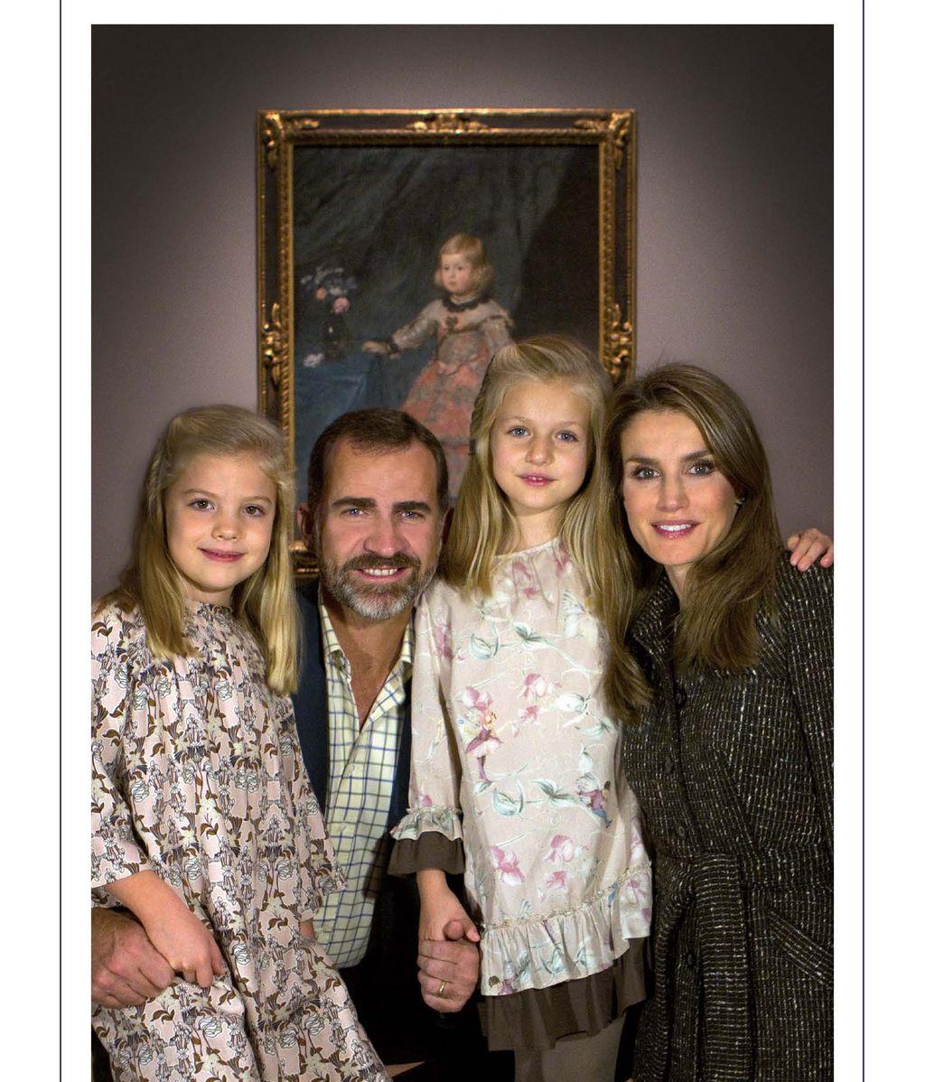 Los Príncipes de Asturias felecitan la Navidad