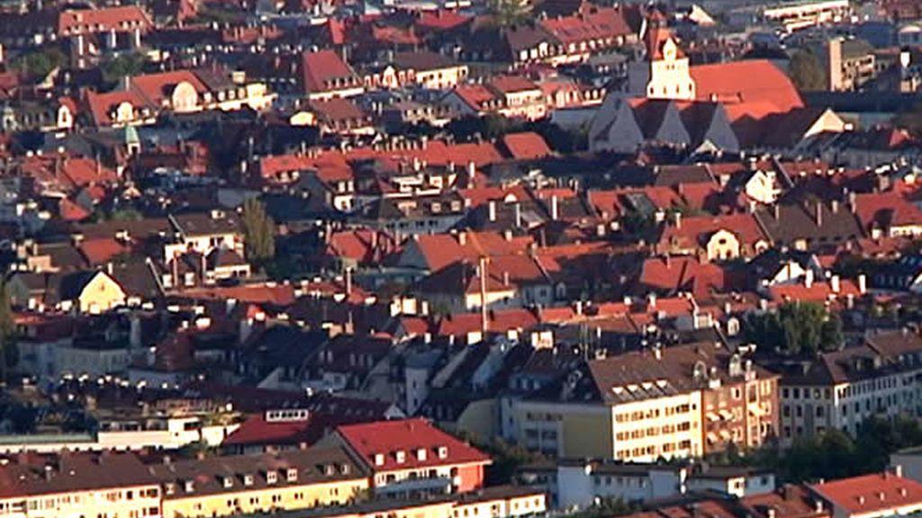 Tejados rojos en Munich