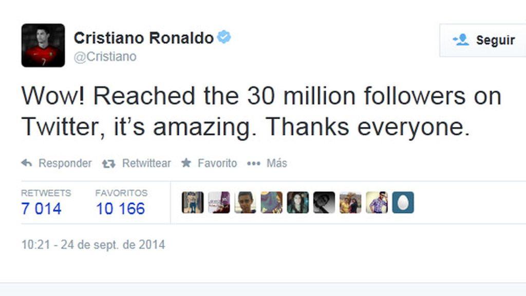 Cristiano Ronaldo arrasa en Twitter