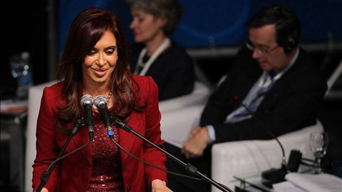 En la imagen, la presidenta argentina, Cristina Fernández. EFE/Archivo