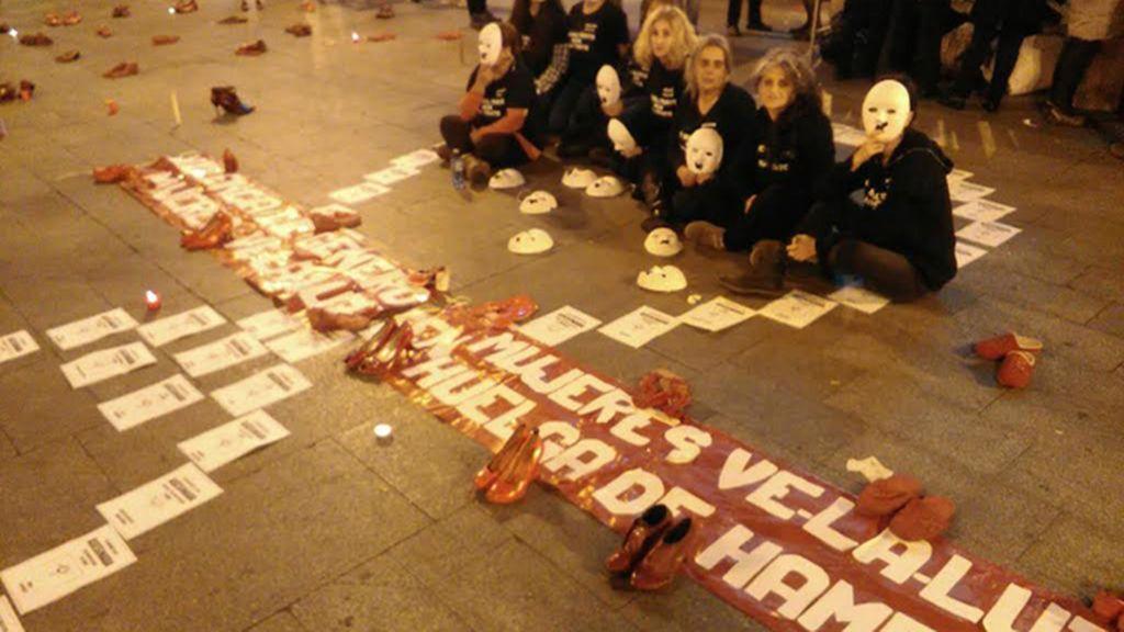 Nueve mujeres en huelga de hambre en la Puerta del Sol contra violencia de género