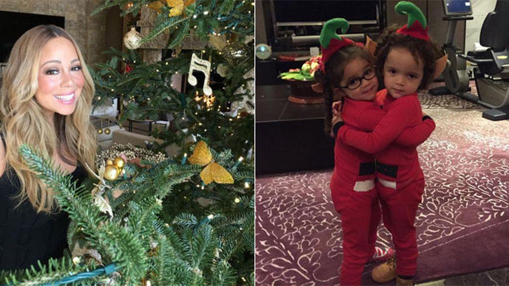 Los 'pequeños elfos' de Mariah Carey están muy comestibles estas Navidades...