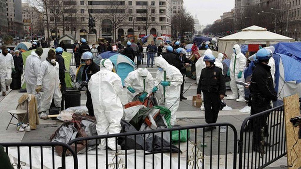 Desmantelan el campamento de 'Occupy Washington' situado cerca de la Casa Blanca