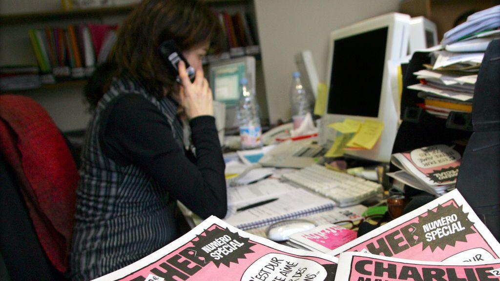 Imagen de archivo de la redacción de la revista satírica francesa 'Charlie Hebdo'