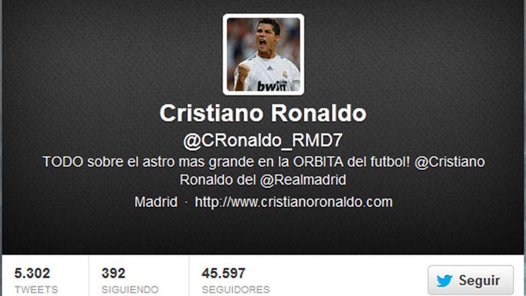 Twitter falso Cristiano Ronaldo