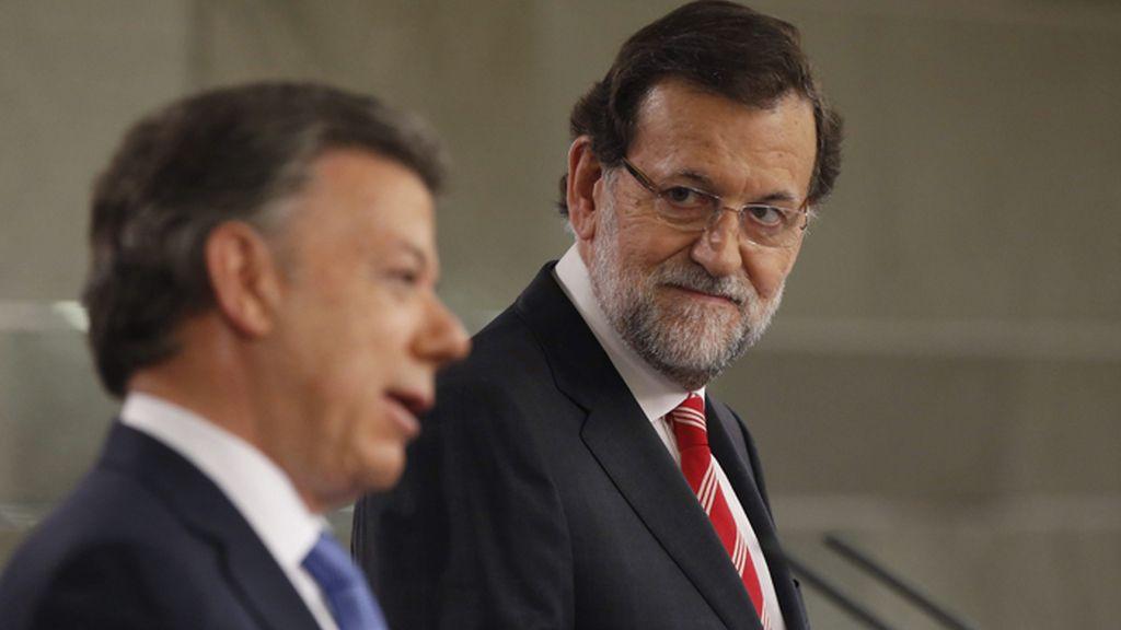 Rajoy y el presidente de Colombia, Juan Manuel Santos
