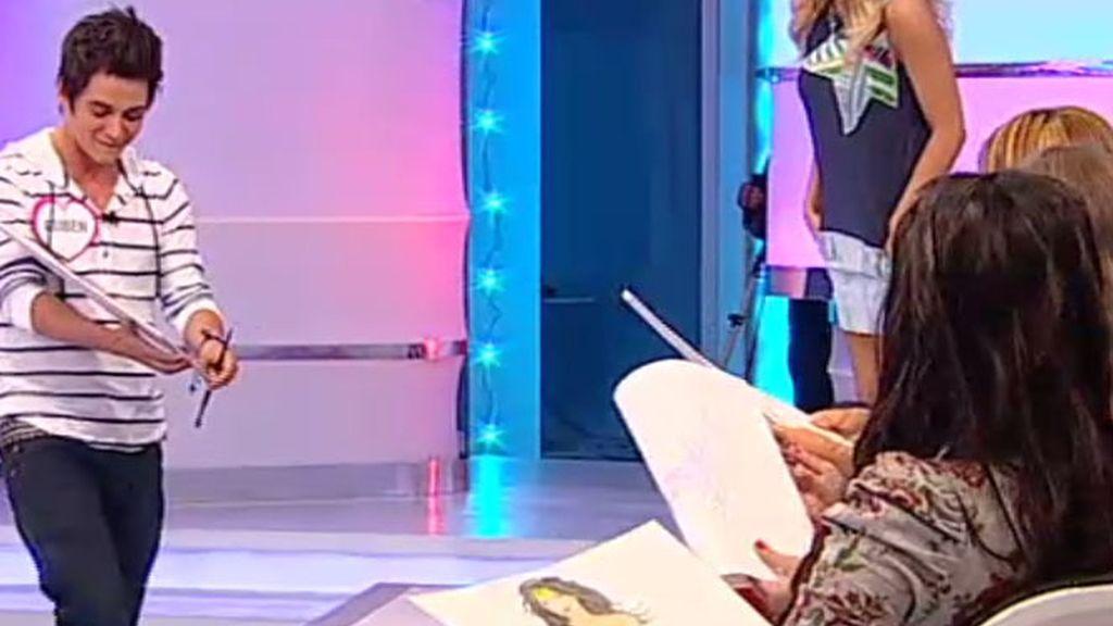 Rubén hace pleno con sus dibujos