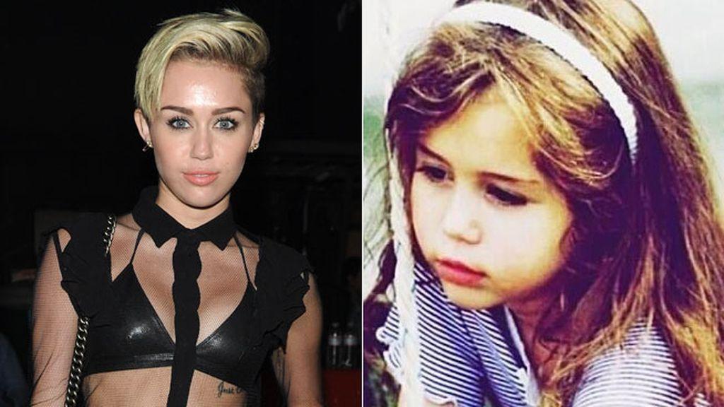 La pequeña y tierna Miley