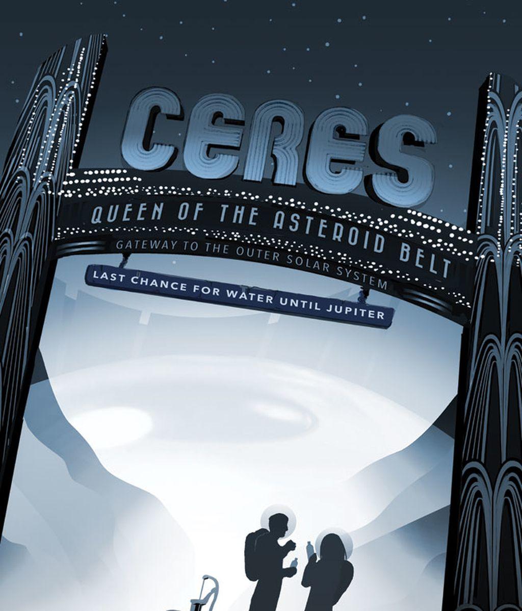 La NASA publica carteles románticos sobre viajes futuristas al espacio