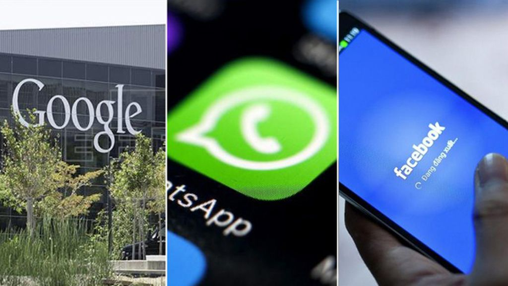 Google, WhatsApp y Facebook