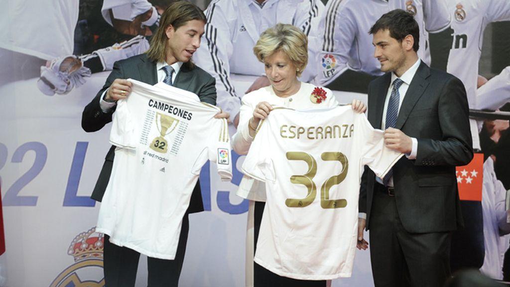 Esperanza Aguirre, Real MADRID