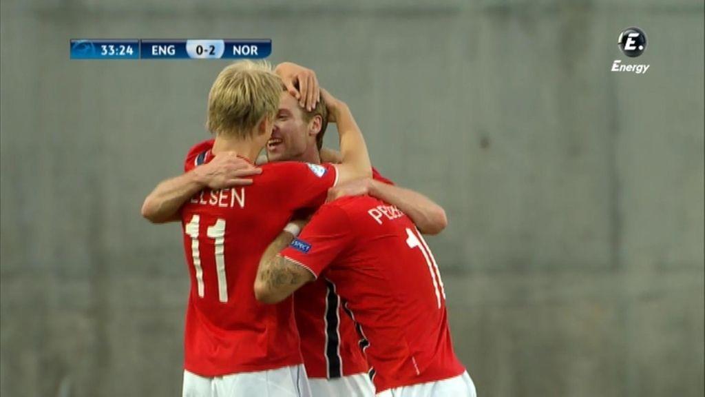 Noruega se marchó al descanso con una ventaja de 2-0