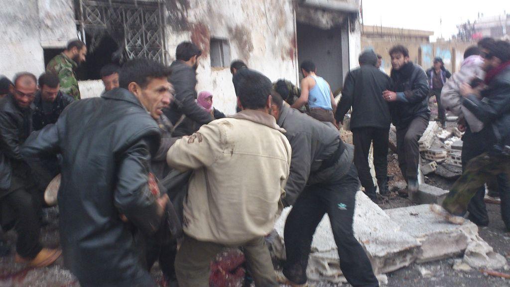 Bombardeo en una panadería de Siria