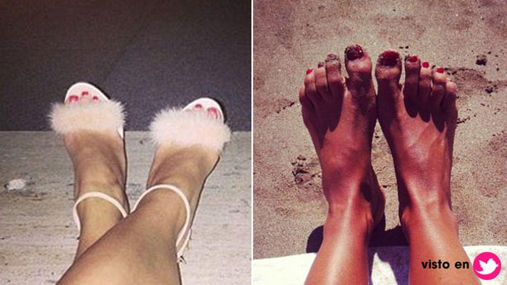 Los pies de las famosas en las redes sociales