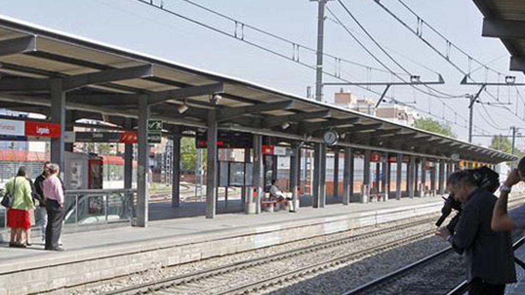 Estación de Leganés, donde fue arrollado el joven.