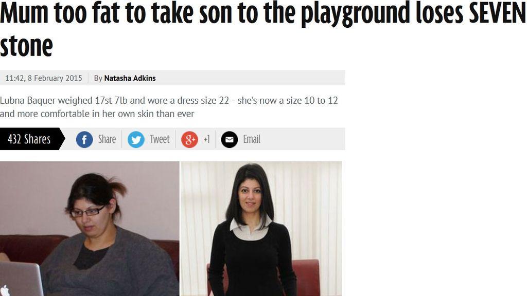 Pierde 45 kilos por su hijo