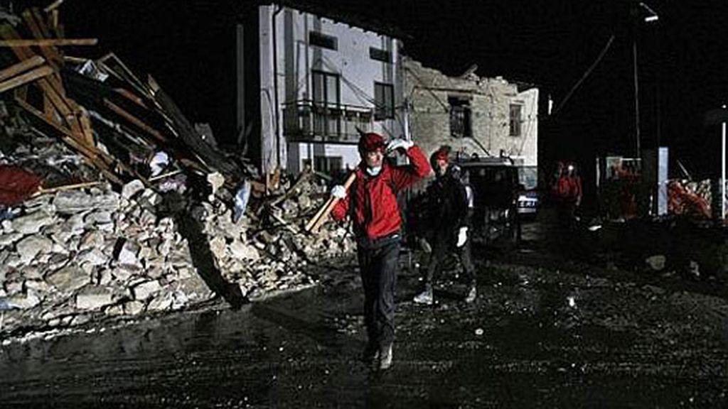 Las calles devastadas tras el terremoto