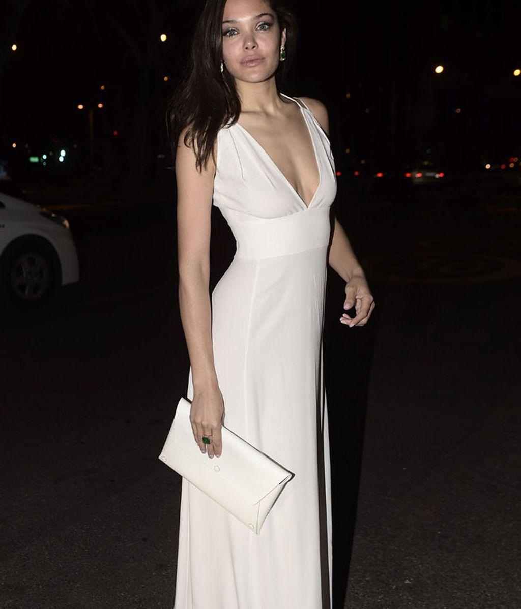Ana Rujas escogió un vestido de Ángel Schlesser para la fiesta