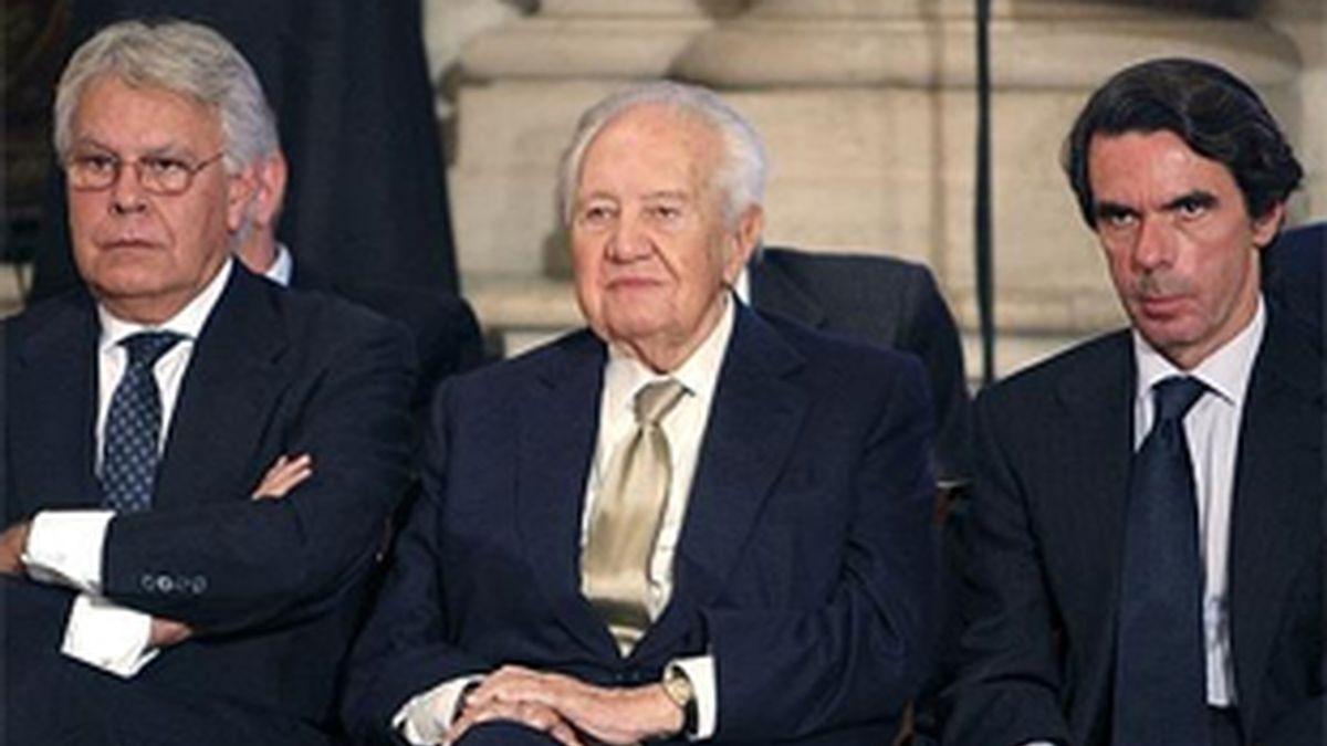 Felipe González y José María Aznar han sido fichados por Gas Natural Fenosa y Endesa respectivamente. FOTO:  EFE/Archivos