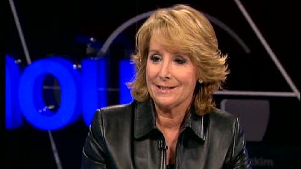 """Esperanza Aguirre: """"me equivoqué"""" al cuestionar a Rajoy"""