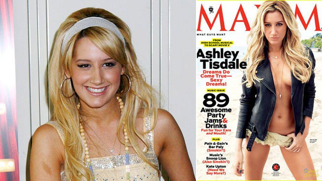 Ashley Tisdale se muestra con poca ropa