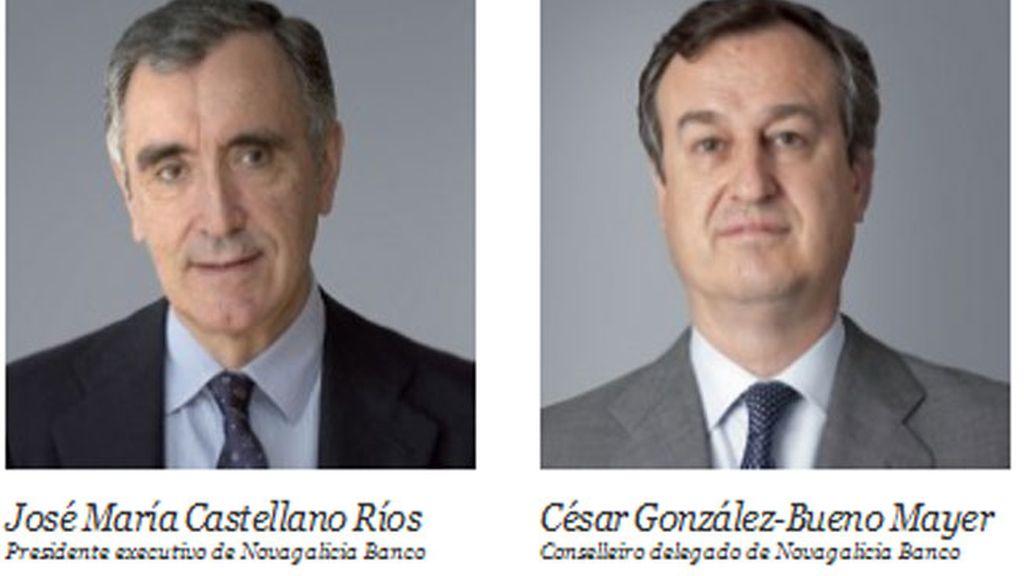 José María Castellano y César González-Bueno, de Novagalicia Banco