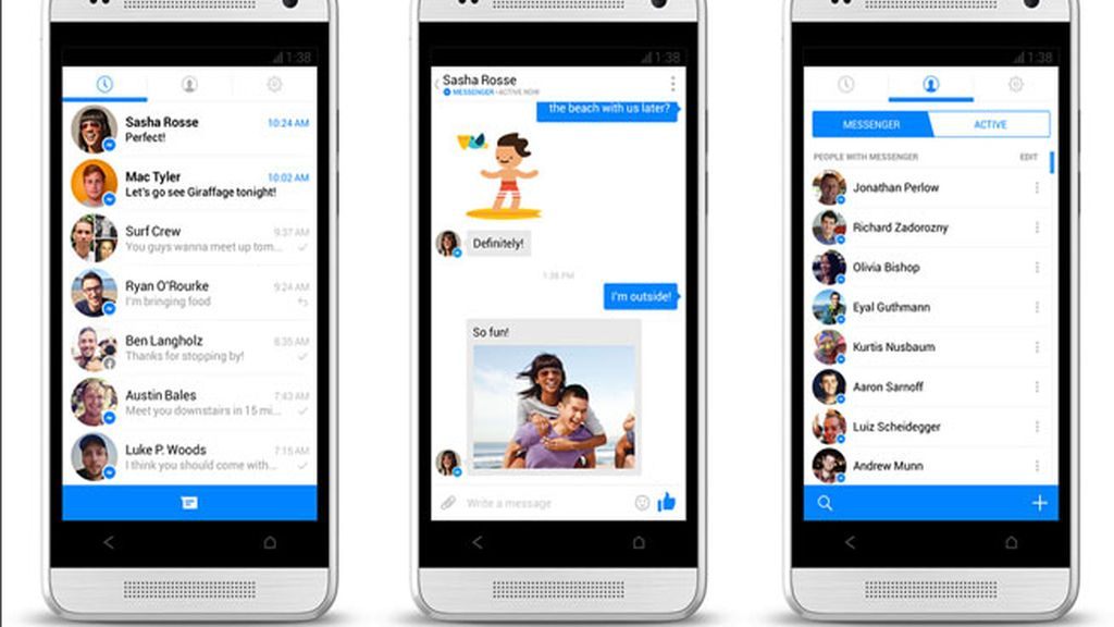 Facebook messenger,móvil,iOS,Android