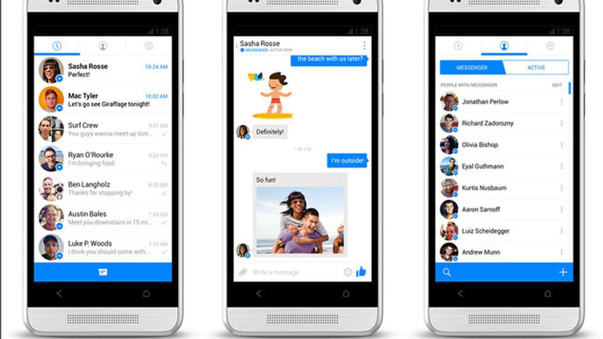Facebook messenger,móvil,iOS,Android
