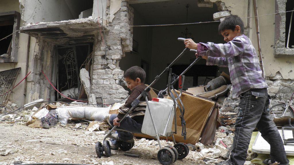 Niños en Homs
