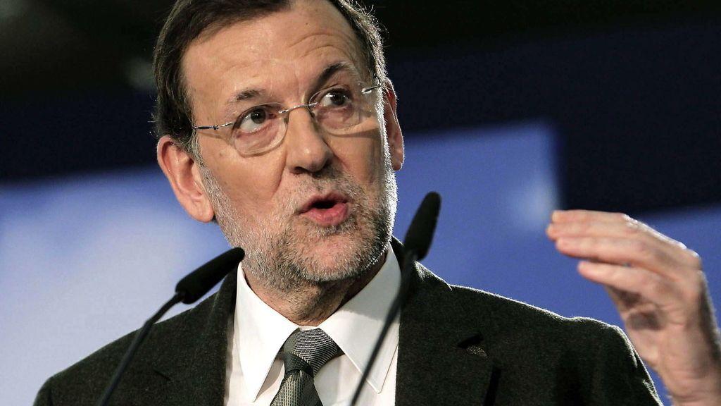 Mariano Rajoy, en Barcelona. Foto: EFE
