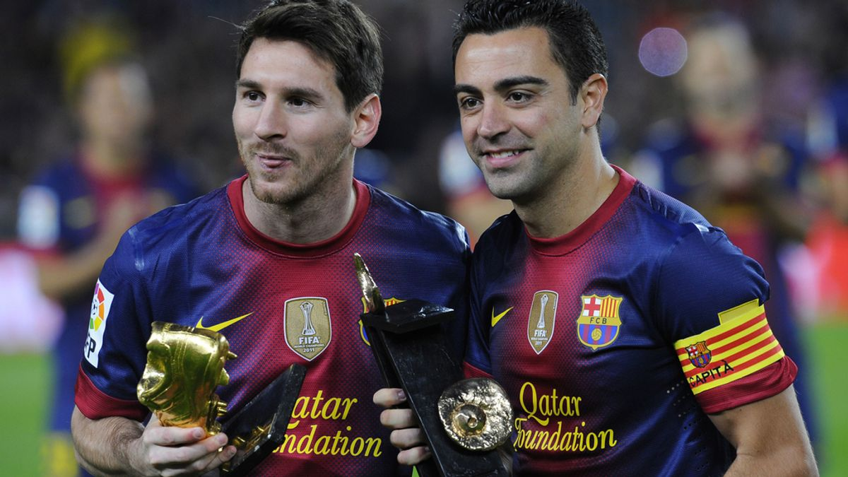 Xavi, Messi, Barcelona